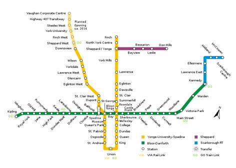 Toronto public transit planner