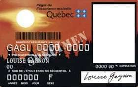 health insurance card front