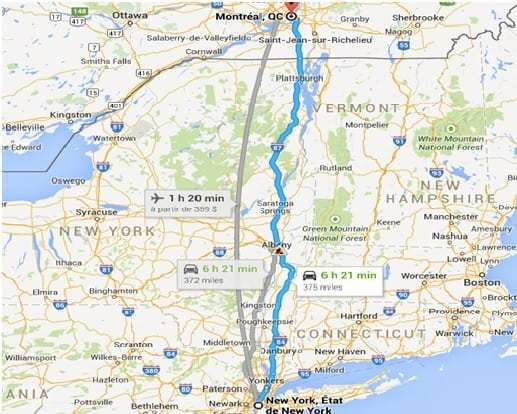 Distance Between Montreal Quebec And New York City
