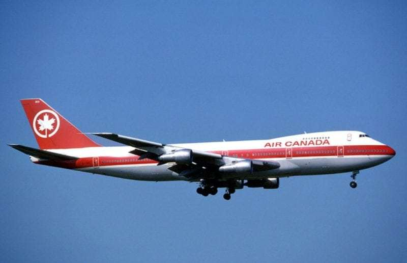 Boeing 747 from Air Canada, one of better known Canadian airline companies