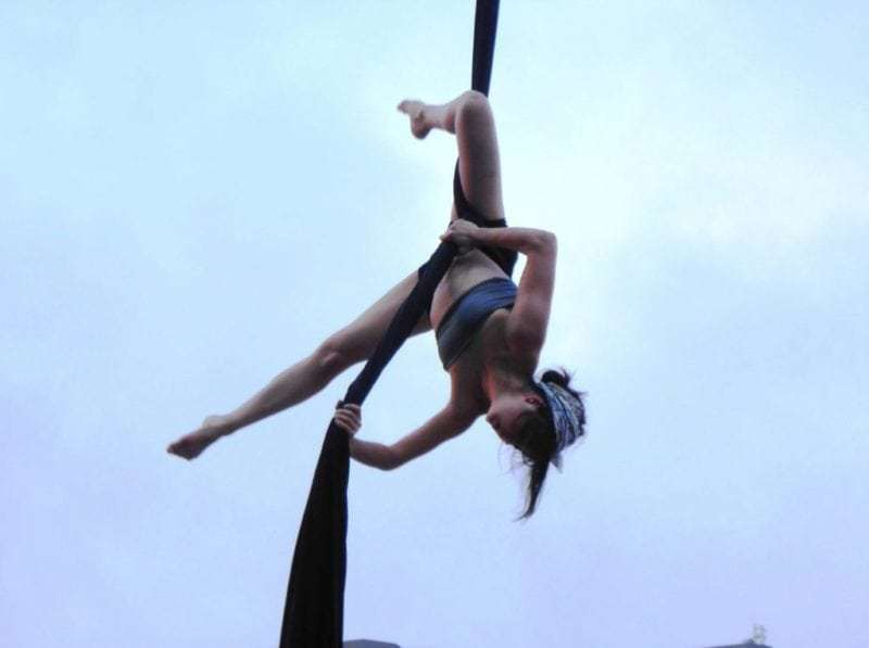 Montreal circus acrobat