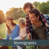 Immigrants moving to Canada