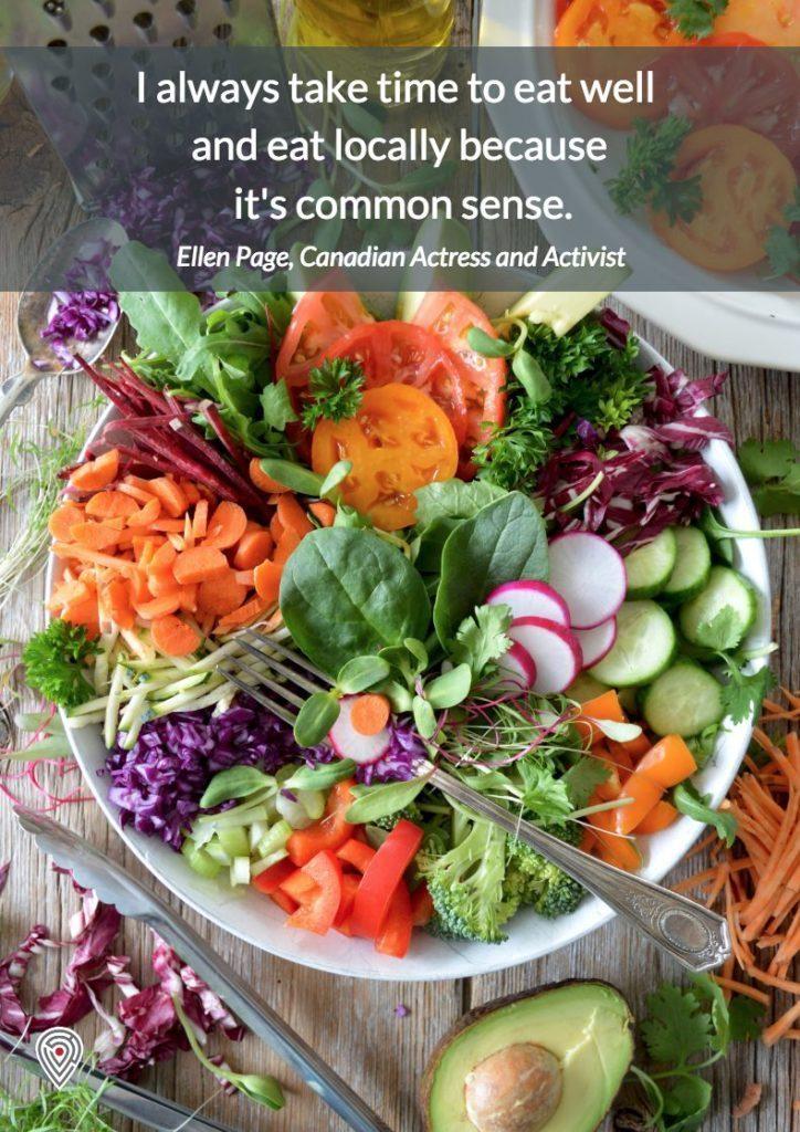 Ellen Page Canada food quote