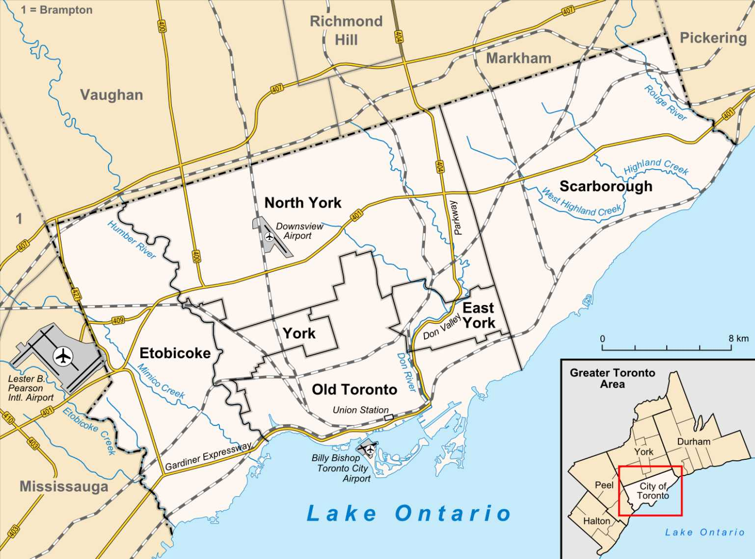 Map of Toronto neighbourhoods