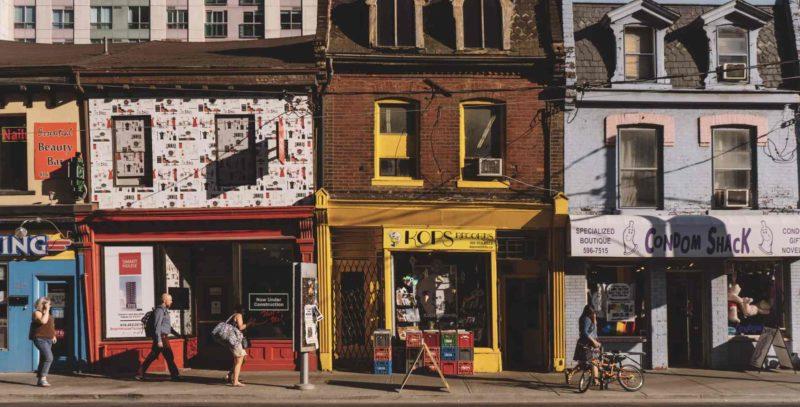 Old Toronto neighbourhood downtown