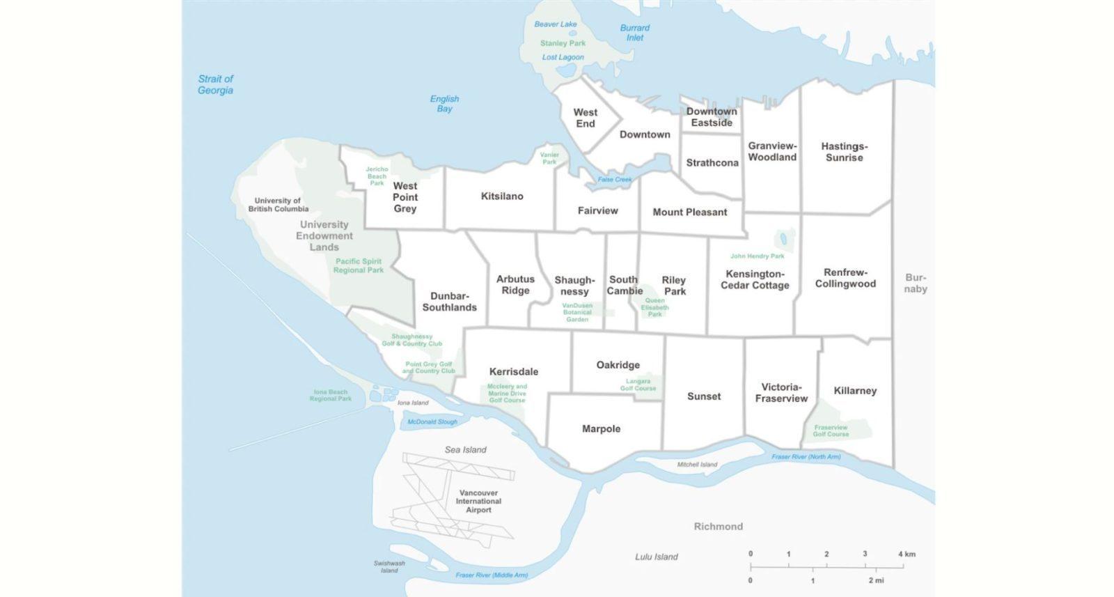 neighbourhoods of Vancouver