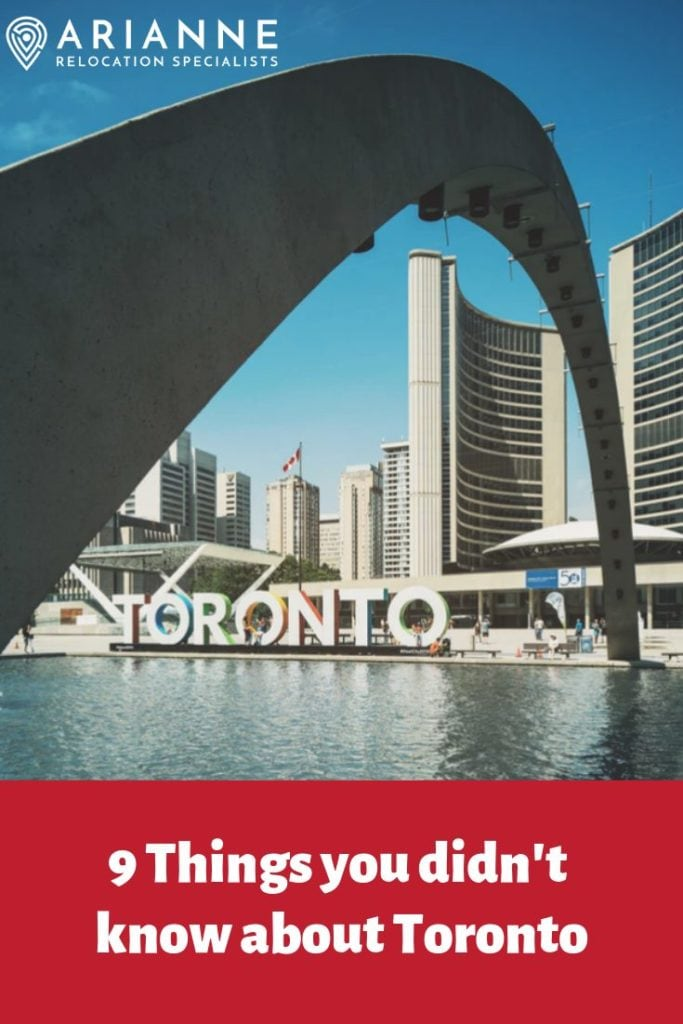 9 Things about Toronto pin