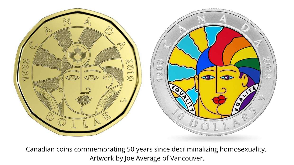 Canadian Dollars celebrating gay rights